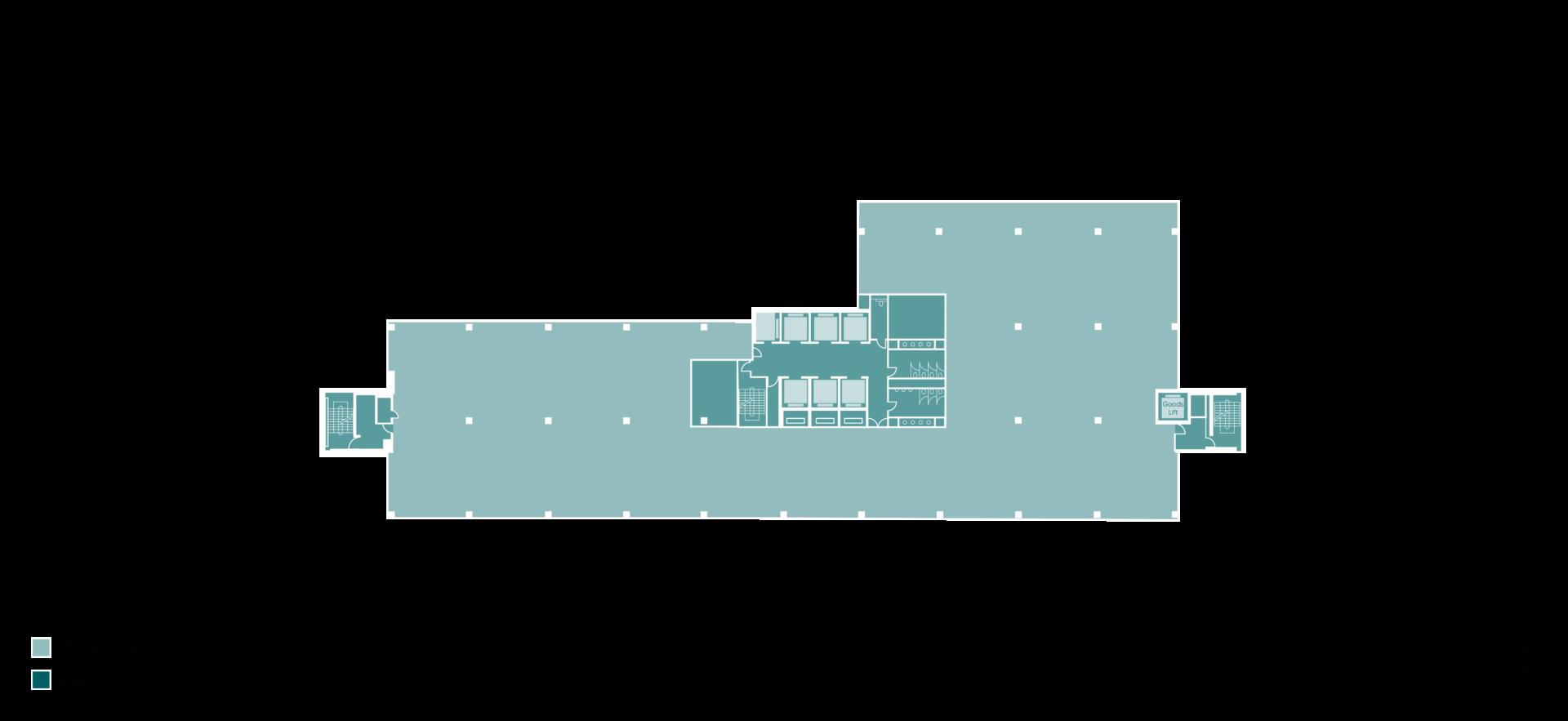 Floorplan of Building HX2 Level 5