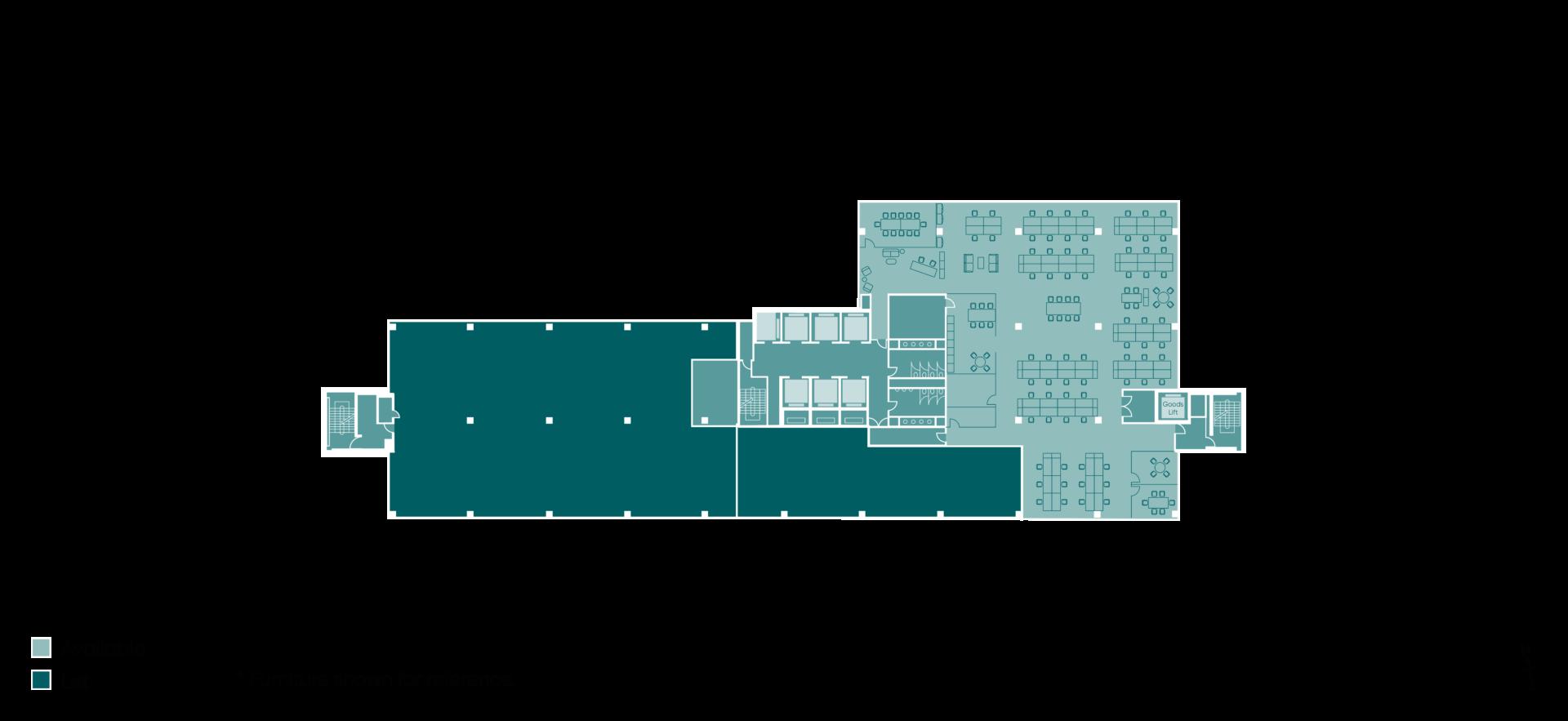 Floor plan of Building HX2 Part of level 6